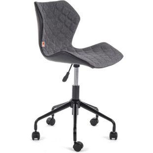 MY SIT Bürostuhl Design-Hocker Drehstuhl Stuhl INO Grau/Schwarz - Bild 1