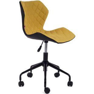 MY SIT Bürostuhl Design-Hocker Drehstuhl Stuhl INO Gelb/Schwarz - Bild 1