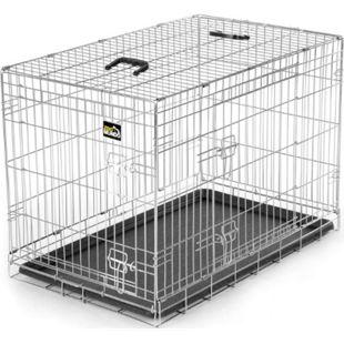 zoomundo Faltbarer Tierkäfig / Transportbox - Silber Größe L - Bild 1
