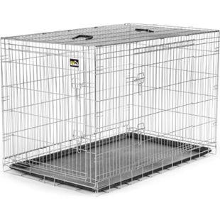 zoomundo Faltbarer Tierkäfig / Transportbox - Silber Größe XXL - Bild 1