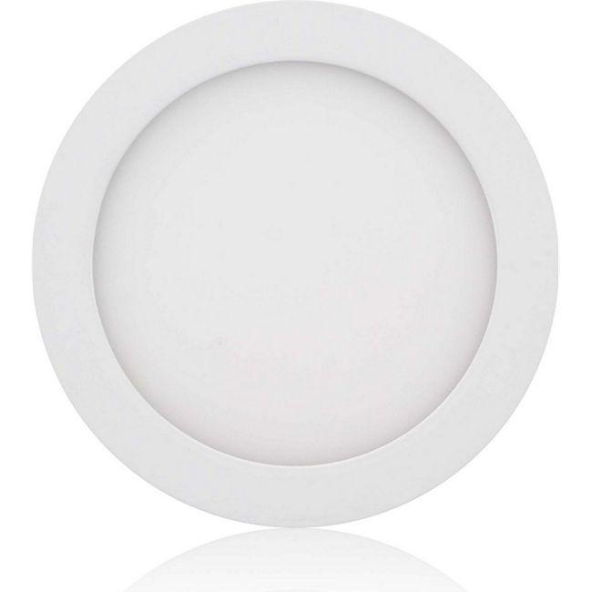 MAXCRAFT LED Panel Strahler Lampe Rund 12W Ø 170 mm - Kaltweiß - Bild 1