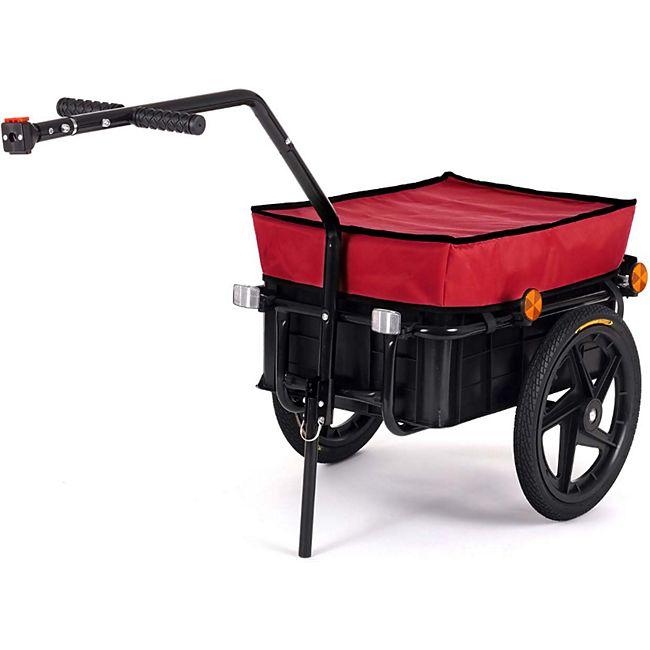 SAMAX Lastenanhänger / Fahrradanhänger für 60 Kg / 70 Liter in Rot - Bild 1