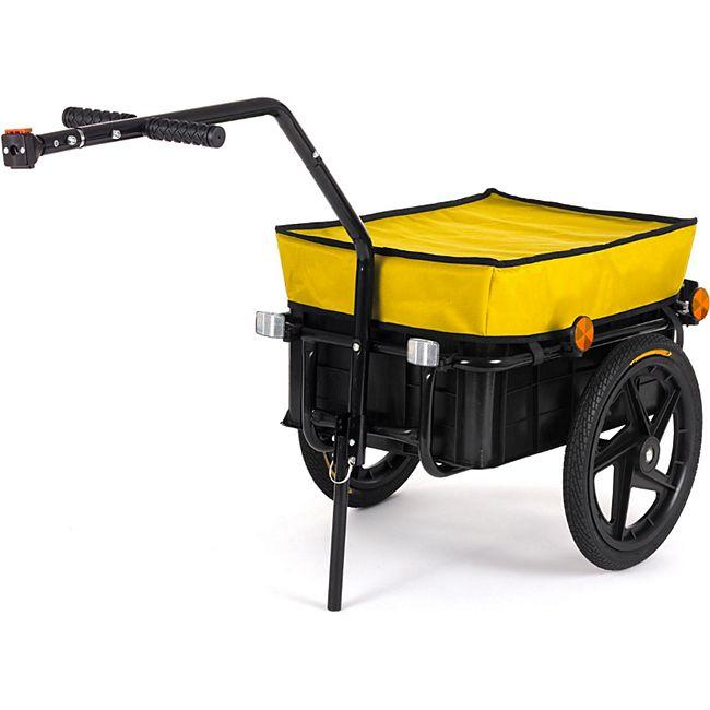 SAMAX Lastenanhänger / Fahrradanhänger für 60 Kg / 70 Liter in Gelb - Bild 1