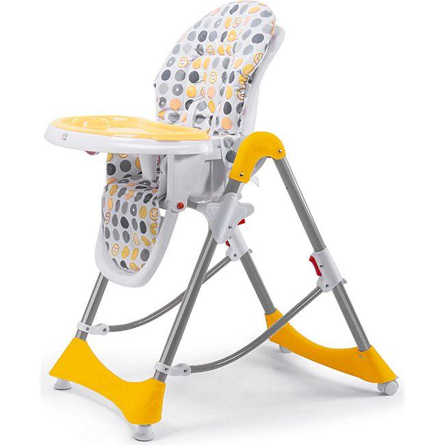 Baby Vivo Design Kinderhochstuhl aus Kunststoff - Tippy in Orange - Bild 1