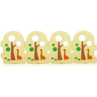 Baby Vivo Zusatzpaket für Laufgitter aus Kunststoff - Forest - Bild 1