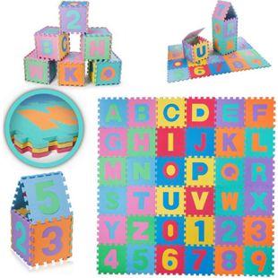 Baby Vivo EVA-Puzzlematte / Spielmatte für Kinder 190 x 190 cm - mit Buchstaben und Zahlen - Bild 1