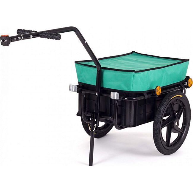 SAMAX Lastenanhänger / Fahrradanhänger für 60 Kg / 70 Liter... Grün - Bild 1
