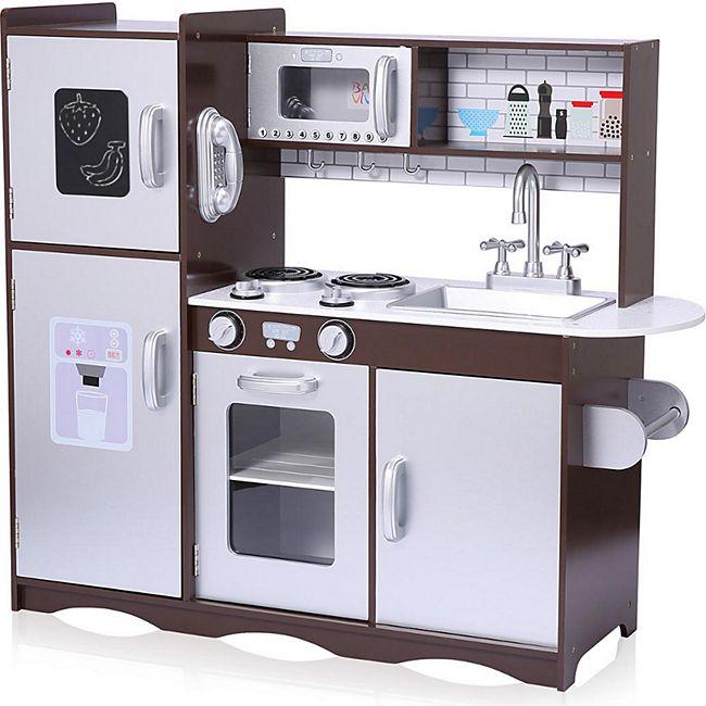 Baby Vivo Kinderküche Spielküche aus Holz - Toni in Braun - Bild 1