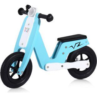 Baby Vivo 10 Zoll Kinderlaufrad / Laufrad aus Holz mit Klingel - Capri blau - Bild 1