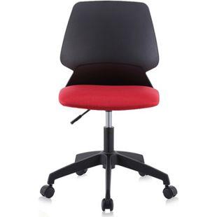 MY SIT Bürostuhl / Design-Hocker Drehstuhl Stuhl NEO in Schwarz/Rot mit Weichbodenrollen - Bild 1