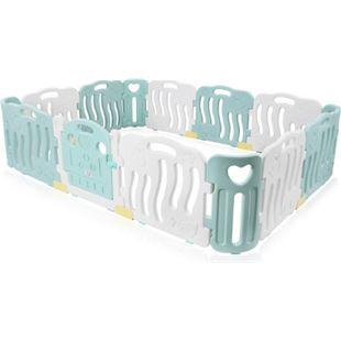 Baby Vivo Laufgitter aus Kunststoff 14 Elemente in Türkis / Weiß - Bailey - Bild 1