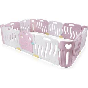 Baby Vivo Laufgitter aus Kunststoff 14 Elemente in Pink / Weiß - Bailey - Bild 1