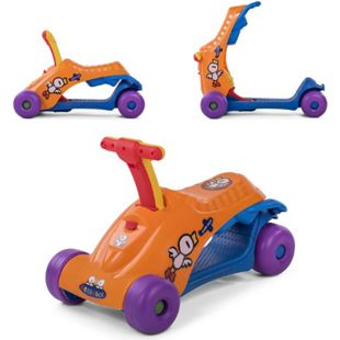 Baby Vivo 2in1 Lauflernwagen für Kinder Multifunktional - Scooter in Orange - Bild 1