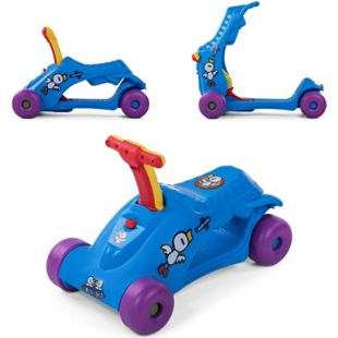 Baby Vivo 2in1 Lauflernwagen für Kinder Multifunktional - Scooter in Blau - Bild 1