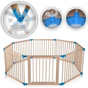 Baby Vivo Laufgitter aus Holz 8 Elemente - individuell verstellbar - PREMIUM - Bild 1