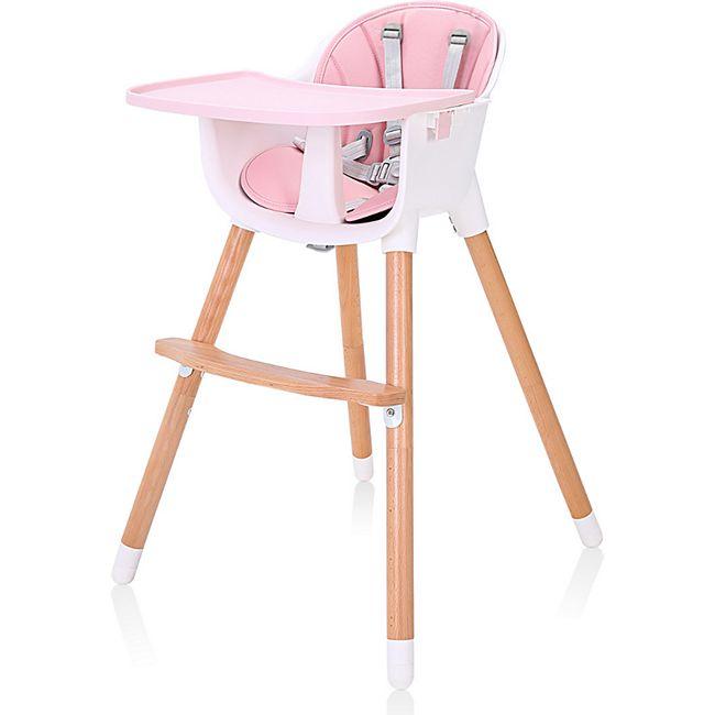Baby Vivo Design 2in1 Kinderhochstuhl - Lani in Pink - Bild 1