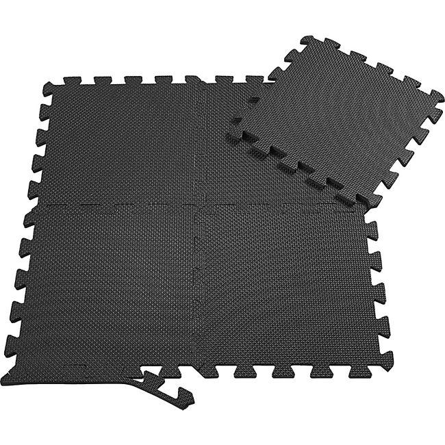 SAMAX EVA Schutzmatten Fitnessmatten Set 30x30 cm - 18 Stück in Schwarz - Bild 1