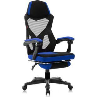 MY SIT Gaming Stuhl Bürostuhl mit ausziehbarer Fußstütze ZERO - Blau - Bild 1