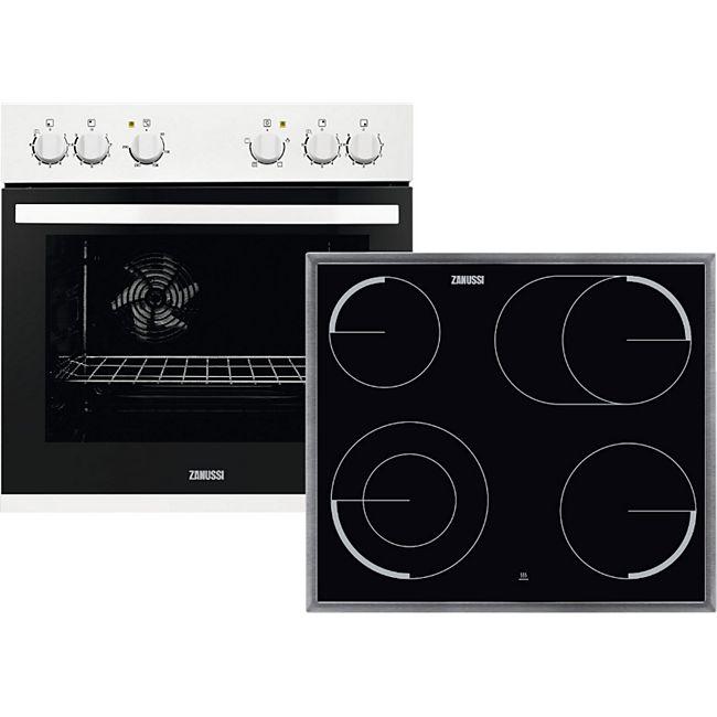 Zanussi Einbauherd weiß Set Ofen ZOU20311WU + ZEV6046XBA ...