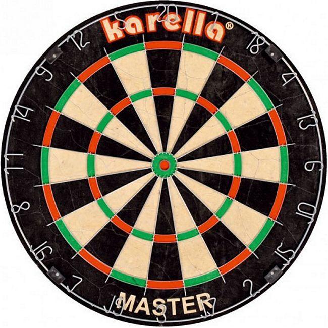 Karella Dartboard Master Wettkamp Profi Dartscheibe Steeldart Dart 8085.01 - Bild 1