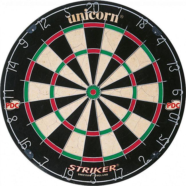 Unicorn PDC Dartscheibe Striker Bristle Dart Board Steeldart Dartboard 79383 - Bild 1