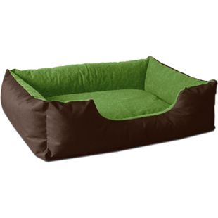 BedDog® Hundebett LUPI, Hundesofa Hundekissen waschbar... S (ca. 55x40cm), MYSTIC (braun/grün) - Bild 1