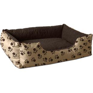 BedDog® Hundebett LUPI, Hundesofa Hundekissen waschbar... S (ca. 55x40cm), NAMIBSAND-DOG (beige/braun) - Bild 1