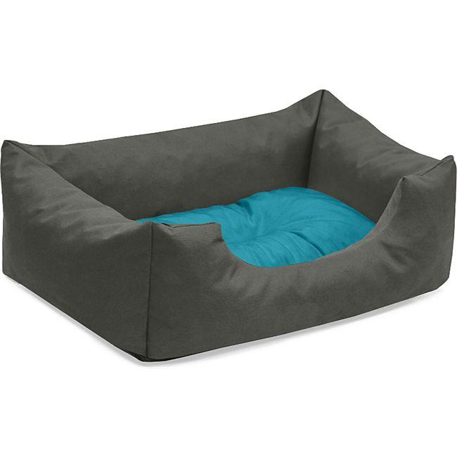 BedDog® Hundebett MIMI, Hundesofa aus Cordura, Microfaser-Velours,Hundekissen... S (ca. 55x40cm), BLUE-ROCK (grau/blau) - Bild 1