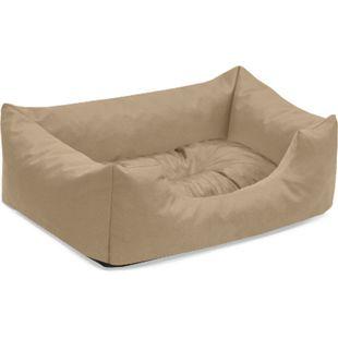 BedDog® Hundebett MIMI, Hundesofa aus Cordura, Microfaser-Velours,Hundekissen... S (ca. 55x40cm), SAND (beige) - Bild 1