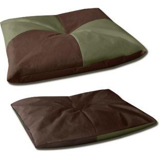 BedDog® 2in1 Hundebett BONA, Hundekissen, Hundekorb, waschbar... L (ca. 65x50cm), MYSTIC (grün/braun) - Bild 1