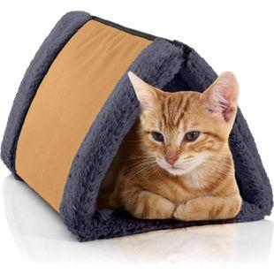 BedDog® Katzentunnel 3in1 LUNA, Katzenhöhle, Katzenmatte zweiseitig, Unterlage... GOLDEN-ROCK (gold/grau) - Bild 1