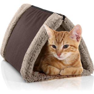 BedDog® Katzentunnel 3in1 LUNA, Katzenhöhle, Katzenmatte zweiseitig, Unterlage... MELANGE (braun/beige) - Bild 1