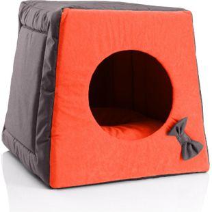 BedDog® Katzenhöhle 3in1 MIA, Katzenbox, Katzenhütte, kuscheliger Katzenkorb... SUNSET (braun/orange) - Bild 1