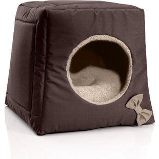 BedDog® Katzenhöhle 3in1 CALA, Katzenbox, Katzenhütte, kuscheliger Katzenkorb... MELANGE (braun/beige) - Bild 1