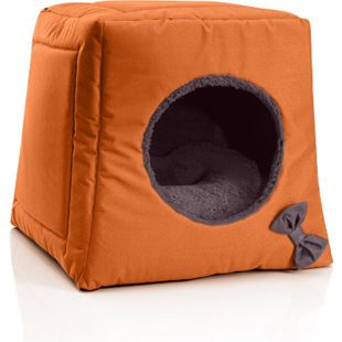 BedDog® Katzenhöhle 3in1 CALA, Katzenbox, Katzenhütte, kuscheliger Katzenkorb... RUSSET-BROWN (orange/braun) - Bild 1