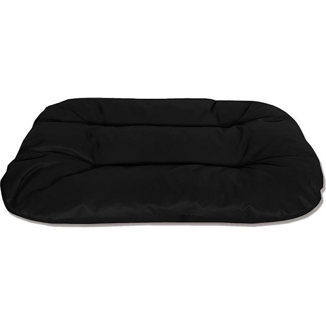 BedDog® 2in1 Hundebett REX, Wende-Hunde-Kissen, waschbar, Hundesofa... L (ca. 80x60x11cm), BLACK (schwarz) - Bild 1