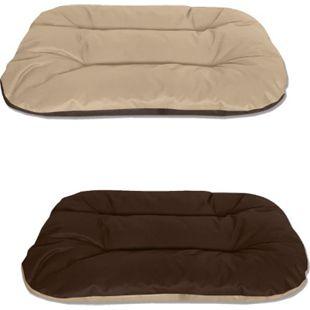 BedDog® 2in1 Hundebett REX, Wende-Hunde-Kissen, waschbar, Hundesofa... L (ca. 80x60x11cm), MELANGE (beige/braun) - Bild 1