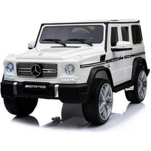 Kinder Geländewagen Mercedes Benz G65 PREMIUM XXL AMG Fernbedienung MP3 2x45W... weiß - Bild 1