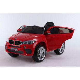 Elektroauto BMW X6 SUV Kinderauto Elektrofahrzeug Kinder Elektro Auto Spielzeug... Rot - Bild 1