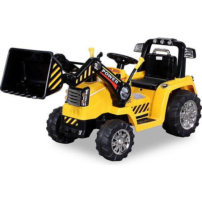 Kinder Elektro Auto Fahrzeug BAGGER Traktor Kinderauto Elektrobagger 2x35W - Bild 1
