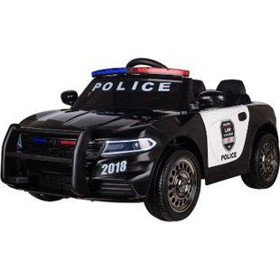 Kinderfahrzeug Elektro Auto Kinder Auto Polizei Design 12V 2x35W 2,4Ghz USB MP3 Sirene - Bild 1