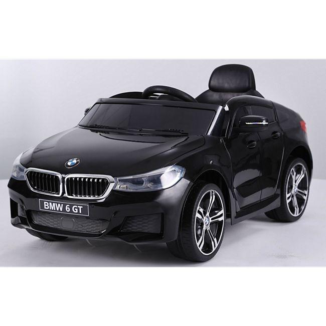 Kinder Elektro Auto Kinderauto BMW 6er GT FB USB Elektro Kinderfahrzeug... Schwarz - Bild 1