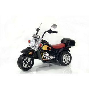 Kinder Elektro Polizei Motorrad Fahrzeug Kindermotorrad Akku Harley Motorrad Elektromotorrad... Schwarz - Bild 1