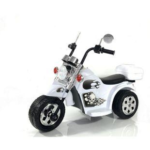 Kinder Elektro Polizei Motorrad Fahrzeug Kindermotorrad Akku Harley Motorrad Elektromotorrad... weiß - Bild 1