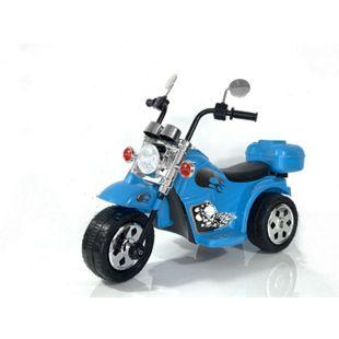 Kinder Elektro Polizei Motorrad Fahrzeug Kindermotorrad Akku Harley Motorrad Elektromotorrad... Blau - Bild 1