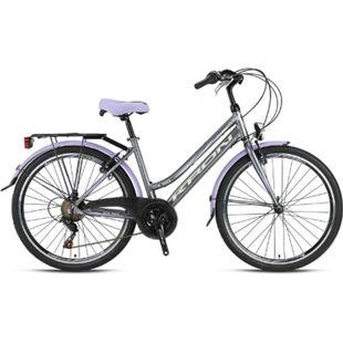"24"" Zoll Alu City Bike Mädchen Fahrrad Kinderfahrrad Shimano 21 Gang Rh 13-14""... Lila - Bild 1"