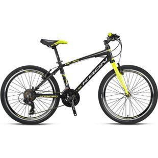 "24"" Zoll Alu MTB Mountainbike Hardtail Kinderfahrrad Shimano 21 Gang RH 15""... Gelb - Bild 1"