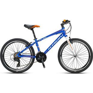 "24"" Zoll Alu MTB Mountainbike Hardtail Kinderfahrrad Shimano 21 Gang RH 15""... Blau - Bild 1"