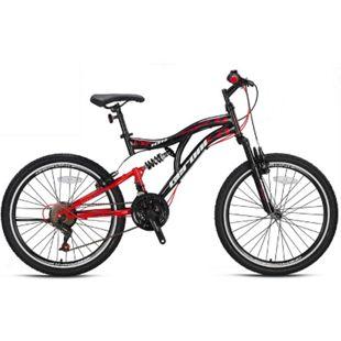 24 Zoll Fahrrad Kinderfahrrad Jungenfahrrad Mountainbike MTB Rad Cross Bike 21 Gang Micro Shift... Rot - Bild 1