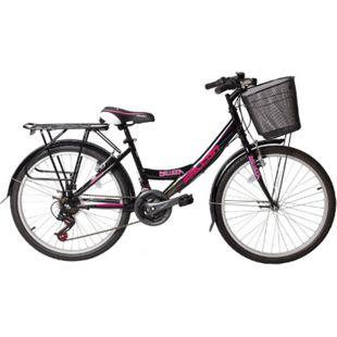 """24"""" Zoll Fahrrad City Bike Mädchen Fahrrad Kinderfahrrad 21 Gang RH ca.45 cm STVO... Schwarz - Bild 1"""